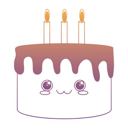birthday cake icon over white background, vector illustration