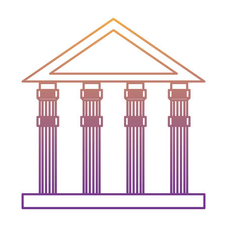 ancient greek building over white background, vector illustration