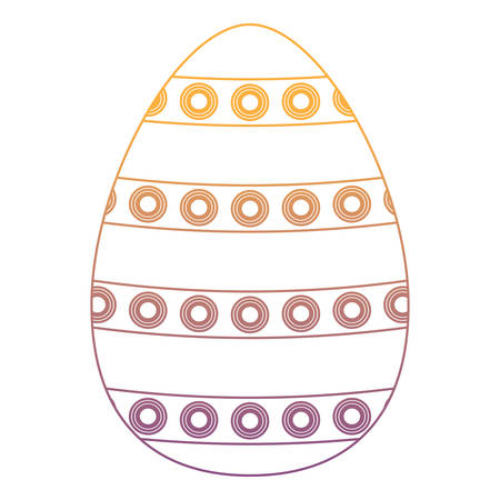 easter egg with dots over white background, colorful design. vector illustration
