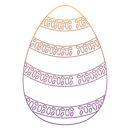 easter egg icon over white background, colorful design. vector illustration