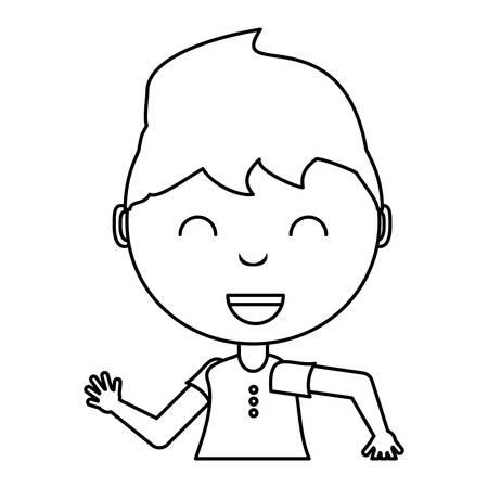 cartone animato ragazza sorridente su sfondo bianco, illustrazione vettoriale