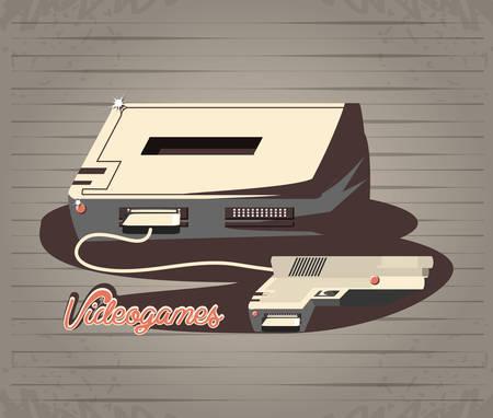 videojuego retro con consola de ilustración vectorial de diseño