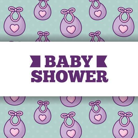 baby shower design over cute bibs background, colorful design. vector illustration Foto de archivo - 102264705