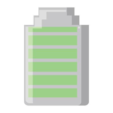 Icono de batería sobre fondo blanco, diseño colorido. ilustración vectorial