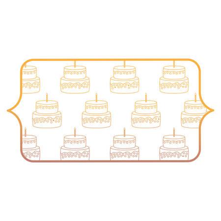 bannière avec la conception de gâteau d'anniversaire sur fond blanc, illustration vectorielle