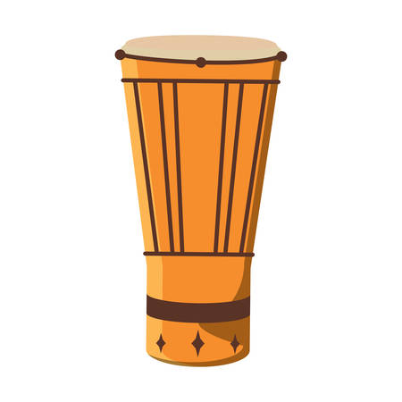 samba drum icon over white background, vector illustration