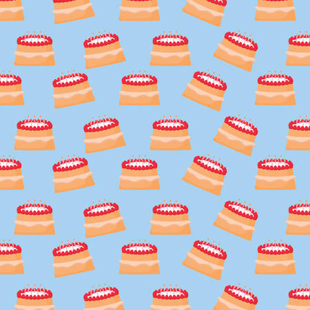 background of cake with candles pattern, vector illustration