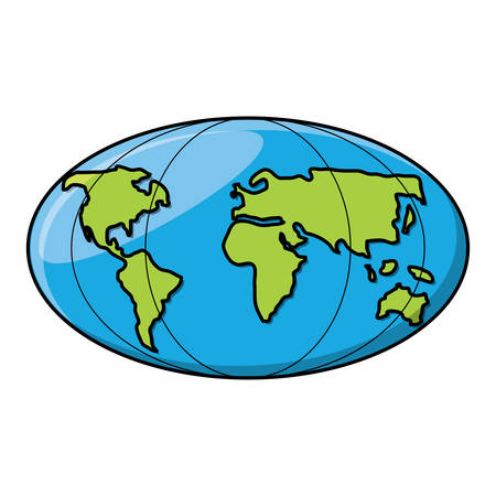 world map icon over white background, vector illustration Ilustrace