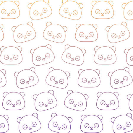 Background of Panda bear pattern, vector illustration 일러스트