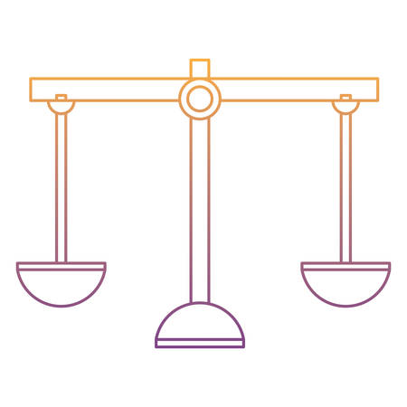 scale icon over white background, vector illustration