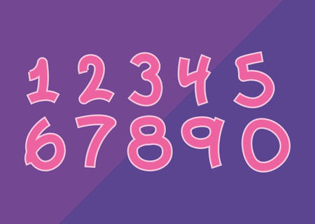 set numbers comic style vector illustration design Illustration