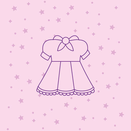 anime dress costume icon over pink background, colorful line design. vector illustration