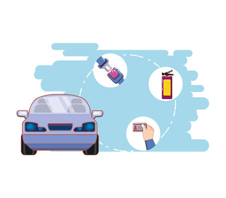 drive smart campaign label vector illustration design