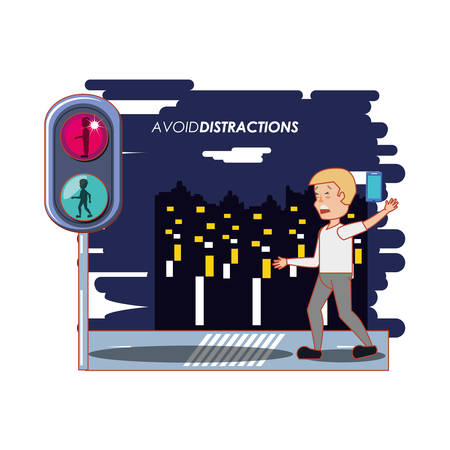 people in the street with a void distractions campaign