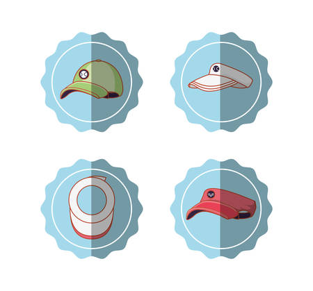 tennis sport set icons vector illustration design