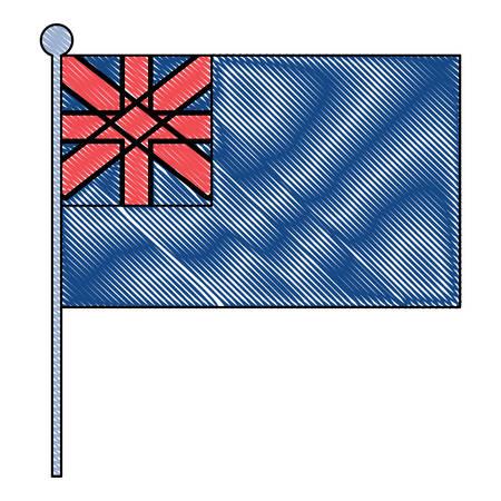 australia flag icon over white background, colorful design. vector illustration 矢量图像