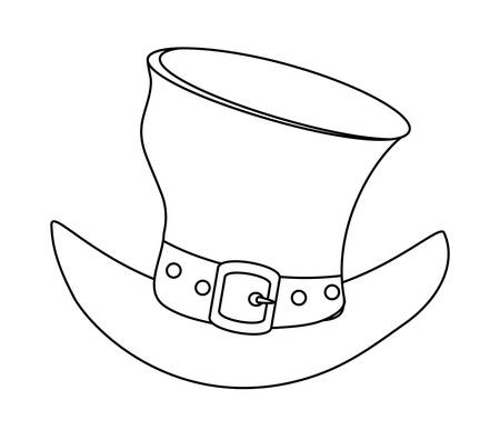 irish top hat over white background, vector illustration