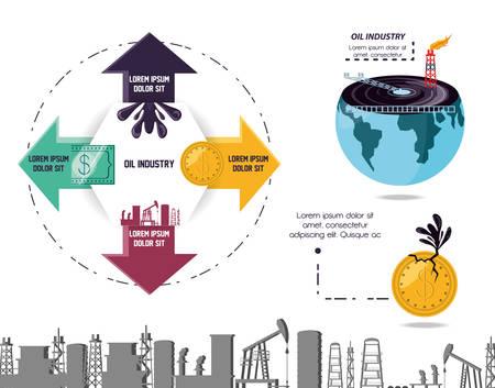 Olie-industrie infographic sjabloon vector illustratie ontwerp Stockfoto - 103015474