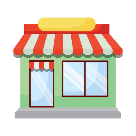 store building icon over white background, vector illustration