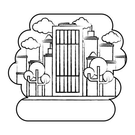 2823 Financial District Skyscraper Stock Vector Illustration And