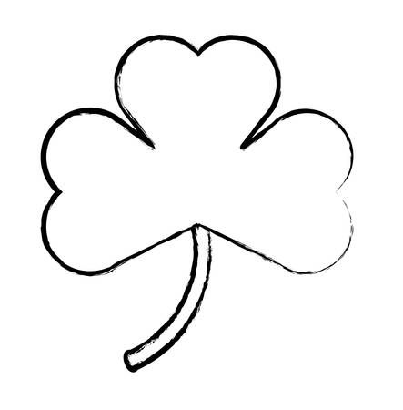 clover icon over white background, vector illustration Ilustrace