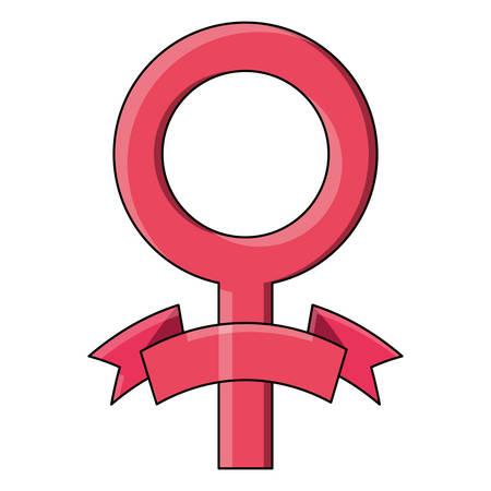female symbol icon over white background, colorful design. vector illustration  イラスト・ベクター素材