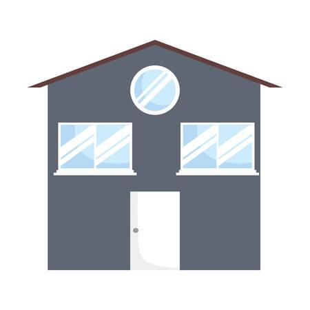 modern house icon over white background, vector illustration