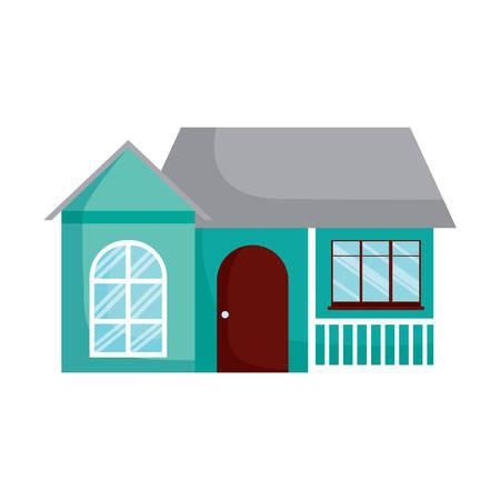 modern house icon over white background, vector illustration  イラスト・ベクター素材