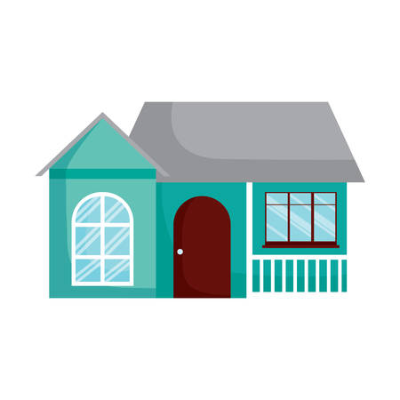 modern house icon over white background, vector illustration Çizim