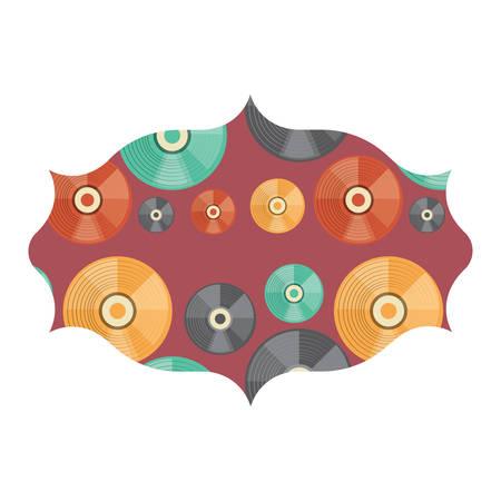 Marco árabe con patrón de vinilos sobre fondo blanco, ilustración vectorial Ilustración de vector