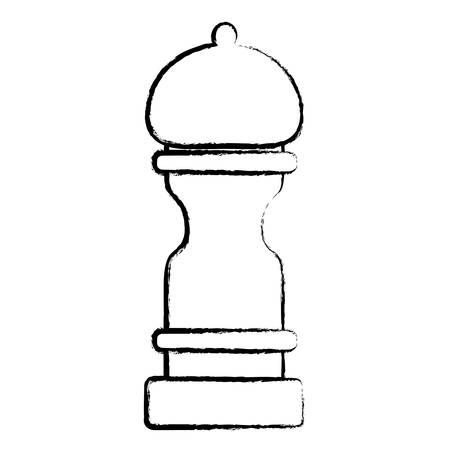 pepper mill icon over white background, vector illustration Stock Illustratie