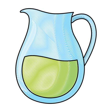 lemonade pitcher icon over white background, vector illustration