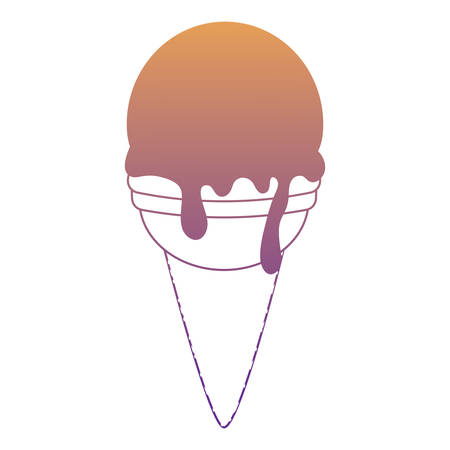 ice cream cone icon over white background, vector illustration
