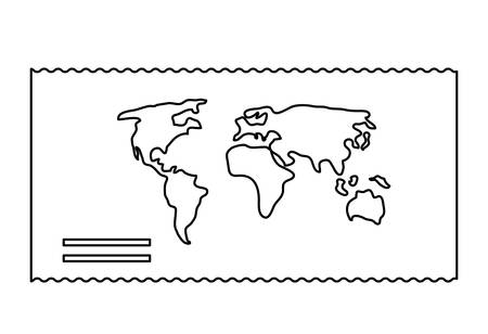 world map icon over white background, vector illustration  イラスト・ベクター素材