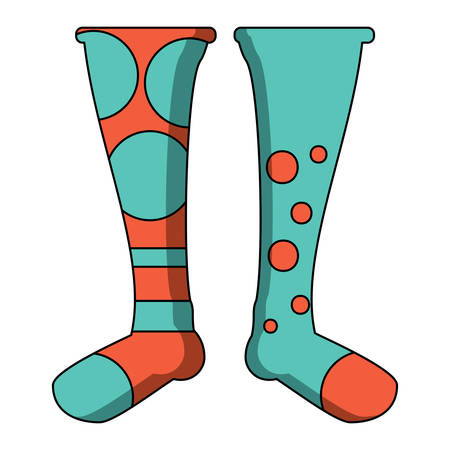 World down syndrome day colorful Socks icon over white background, vector illustration