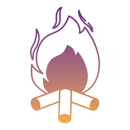 bonfire icon over white background, vector illustration Illustration