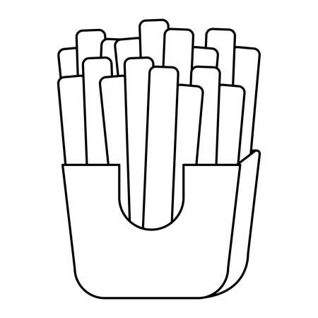 french fries box over white background, vector illustration Illustration