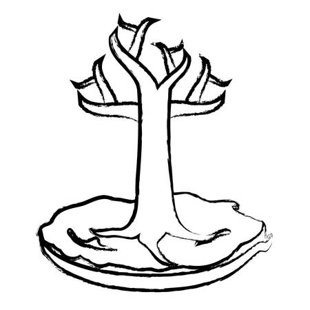 dry tree icon over white background, vector illustration Illustration