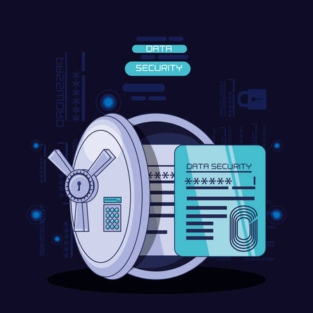 data security technology icons vector illustration design