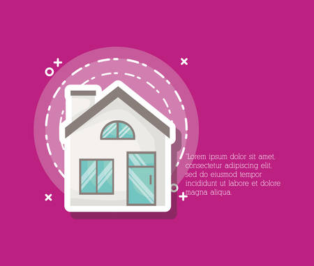 Infographic presentation with modern house icon over background, colorful design. vector illustration