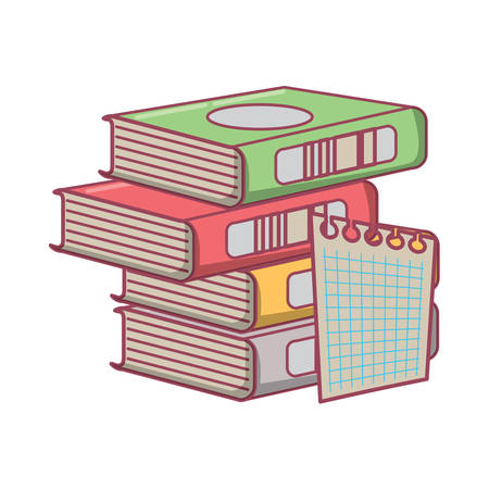 stack of books icon over white background, vector illustration Ilustrace