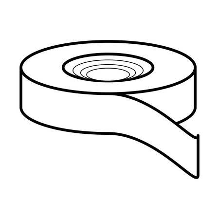 tape icon over white background, vector illustration