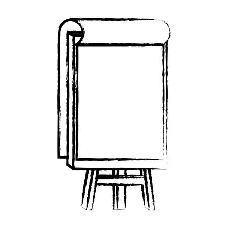 paint canvas icon over white background, vector illustration