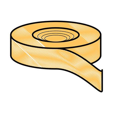 tape pictogram op witte achtergrond, vectorillustratie