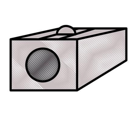 sharpener icon over white background, vector illustration