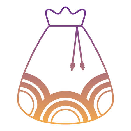 Lucky bag icon over white background, vector illustration
