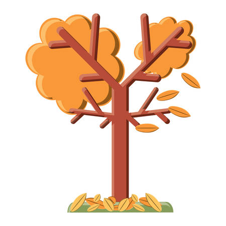dry tree icon over white background, vector illustration Illustration
