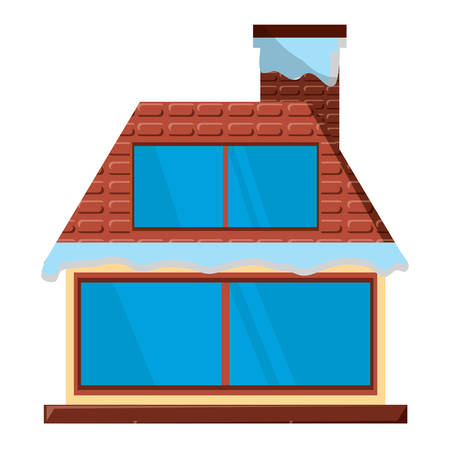 cabin house icon over white background, vector illustration Illustration