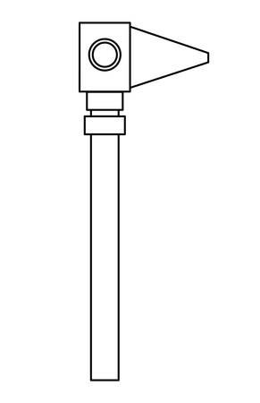 Otoscope tool icon over white background, vector illustration