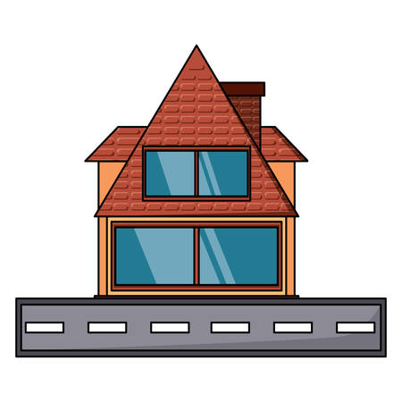 cabin house icon over white background, vector illustration